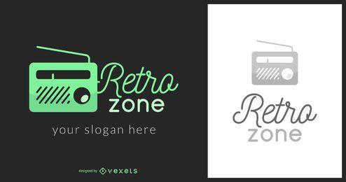Logotipo de música retro zone