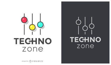Logotipo de música da zona techno