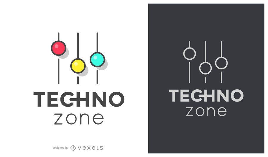 Logotipo de la música de la zona tecno