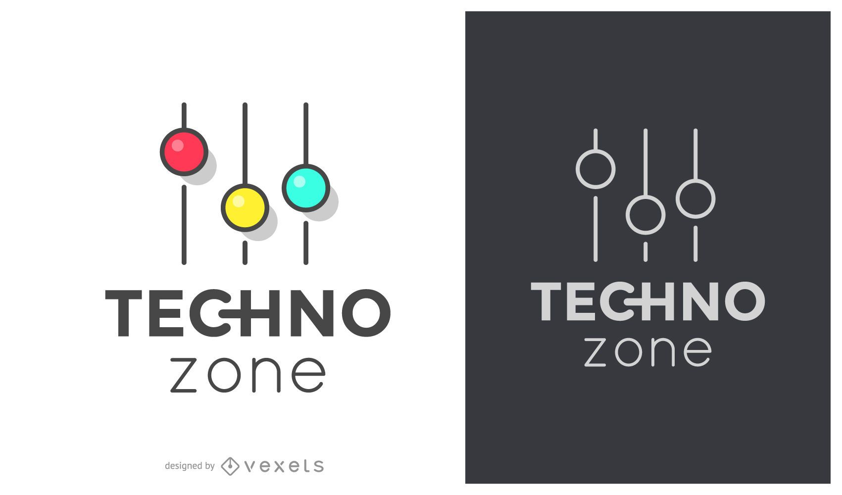 Techno zone music logo