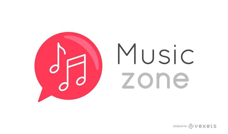 Logotipo de notas musicais