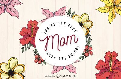 Día de la madre mejor mamá diseño