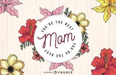 Melhor design da mãe para o dia das mães