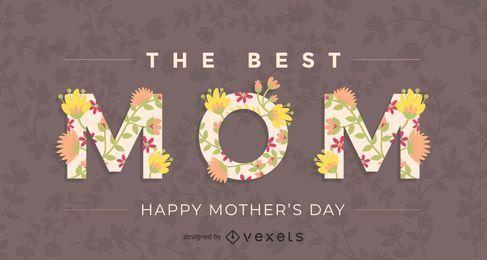 La mejor tarjeta de felicitación de mamá