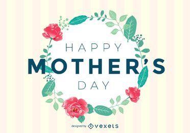 Cartão do dia de mãe