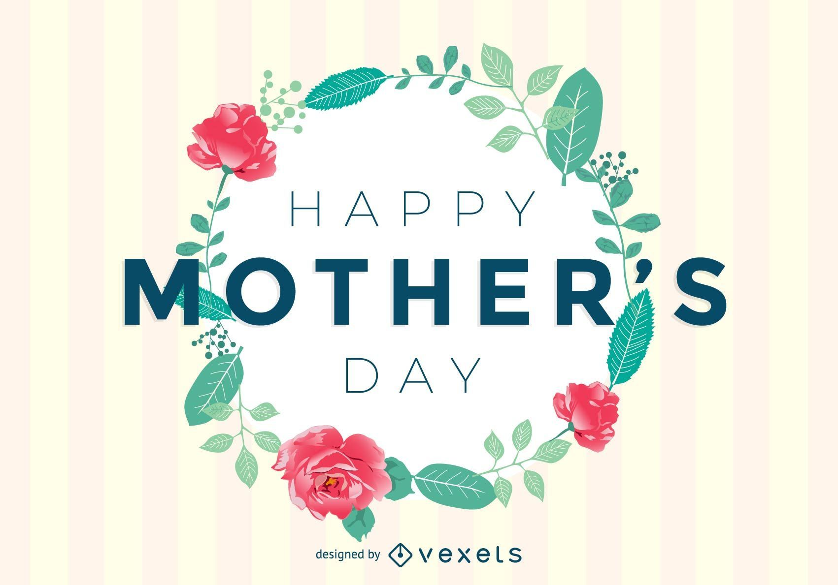 Mothers Day Greeting Card Vector Download