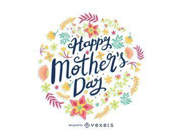 Emblema da flor do dia das mães