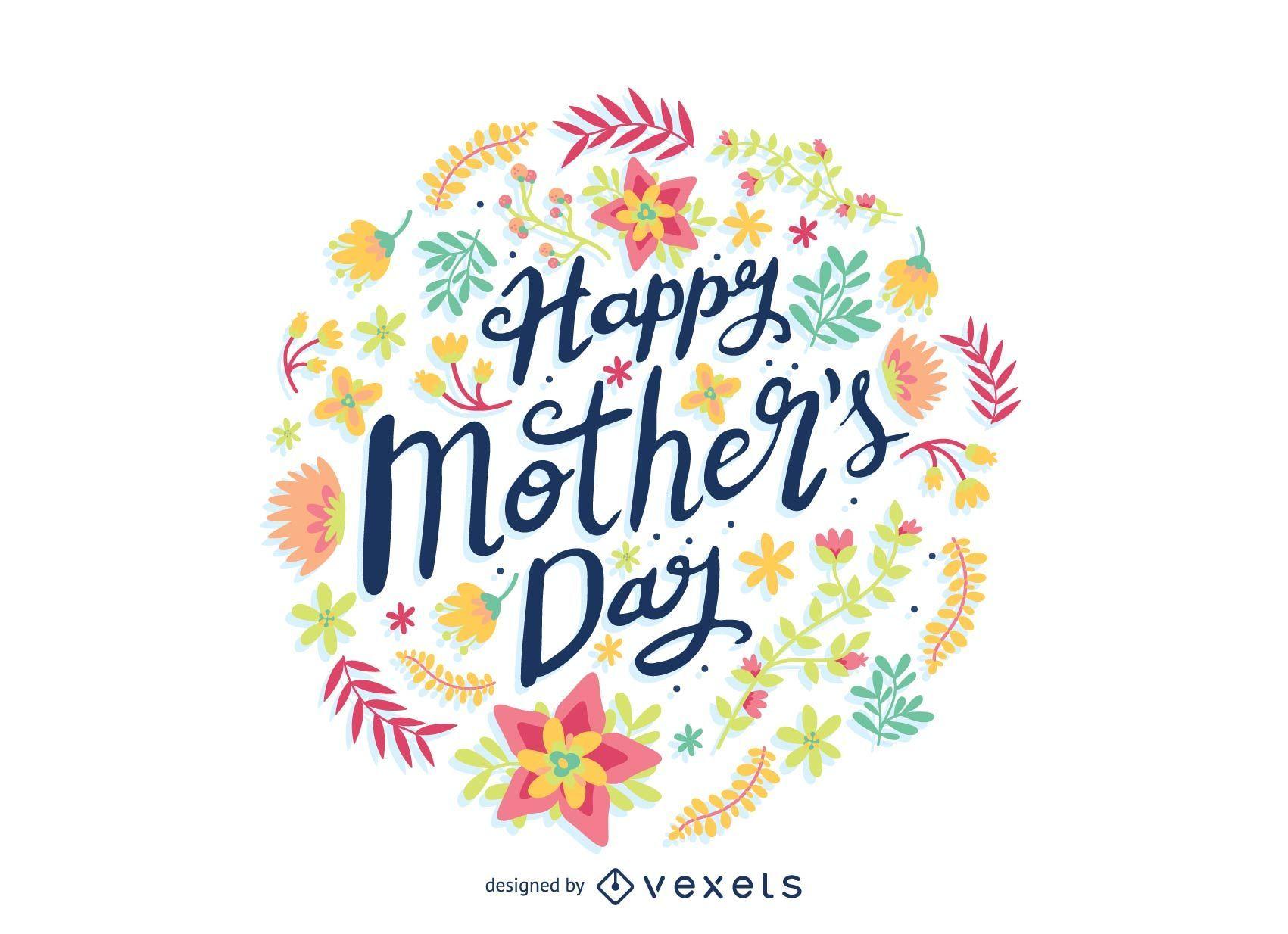Insignia de la flor del día de la madre
