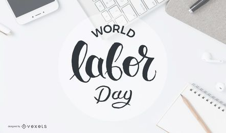 World labor day circle badge
