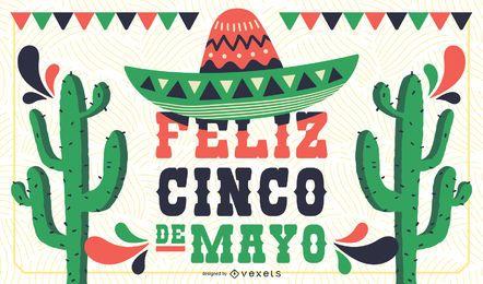 Diseño de banner de cartel de Cinco de Mayo