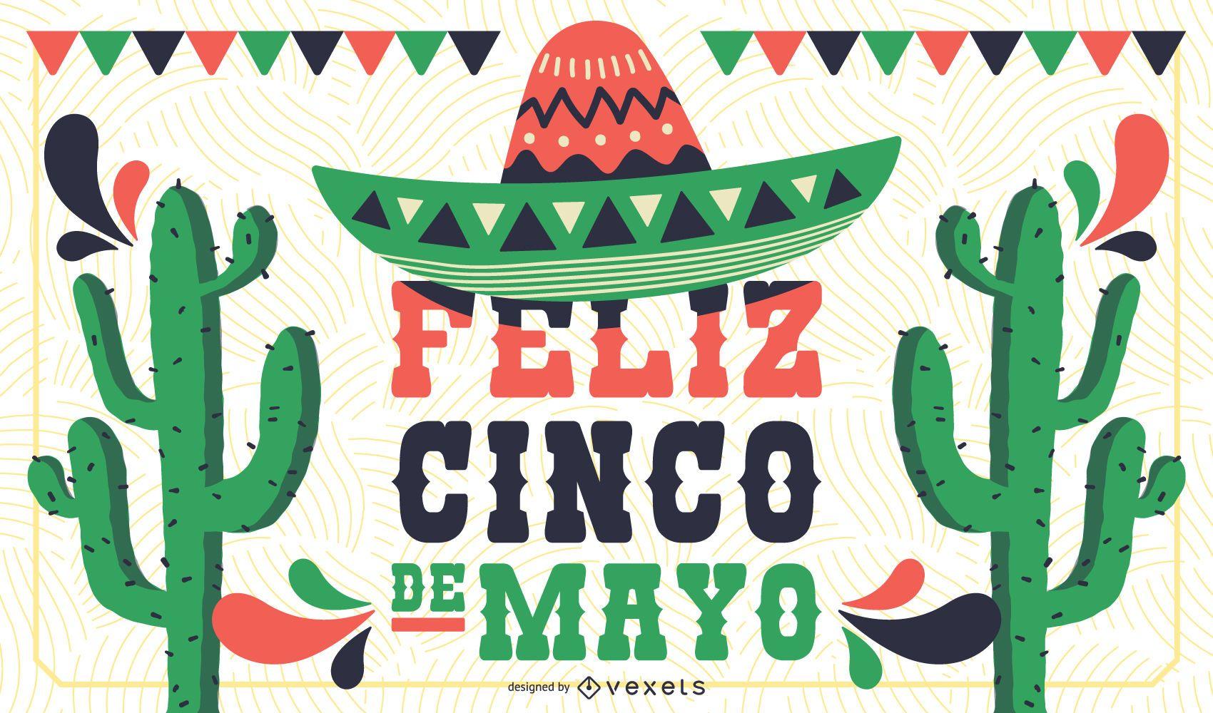 Projeto do banner do cartaz do Cinco de Mayo