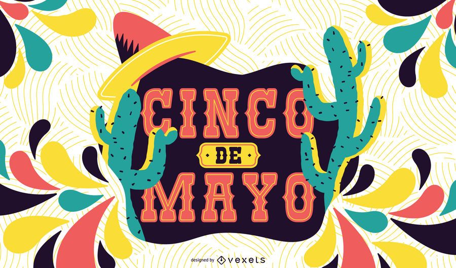 Ilustración colorida del Cinco de Mayo
