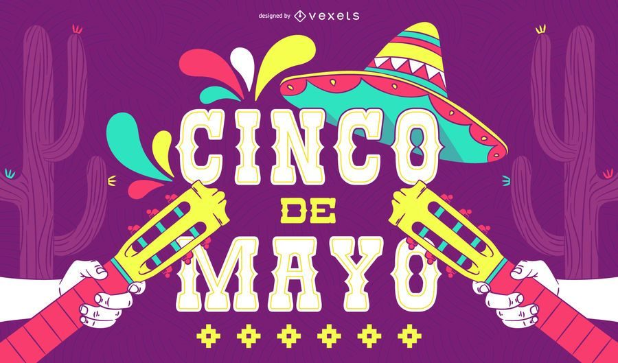Cinco de Mayo illustrated poster