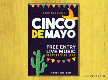 Cinco de Mayo party poster