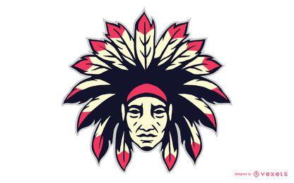 Ícone de cabeça de chefe indiano