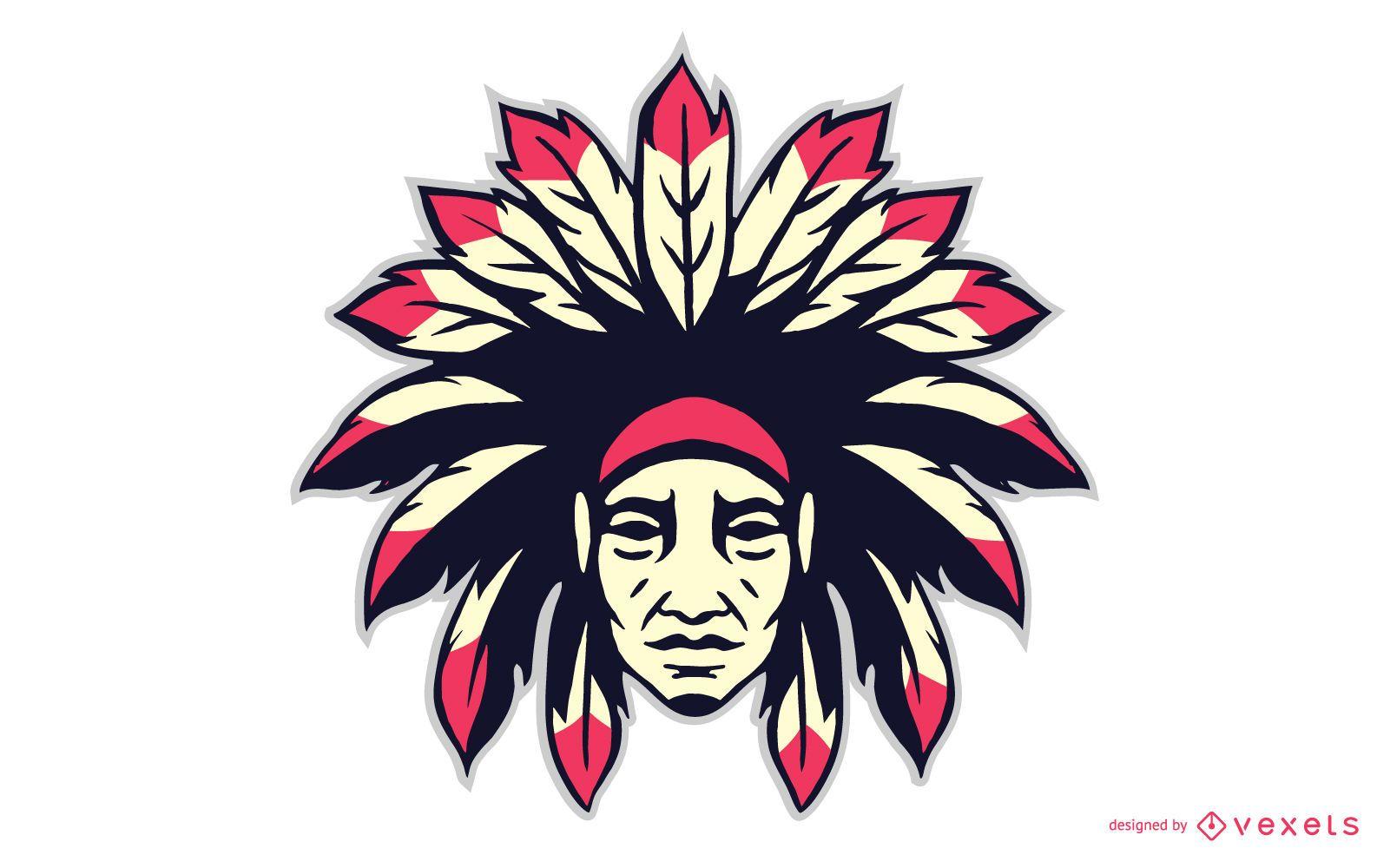 Icono de cabeza de cacique indio