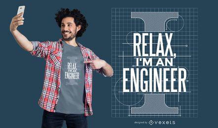 Confie em mim engenheiro de design de camisetas