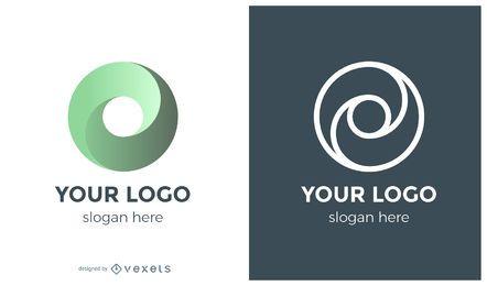 Concepto de logotipo de remolino de círculo