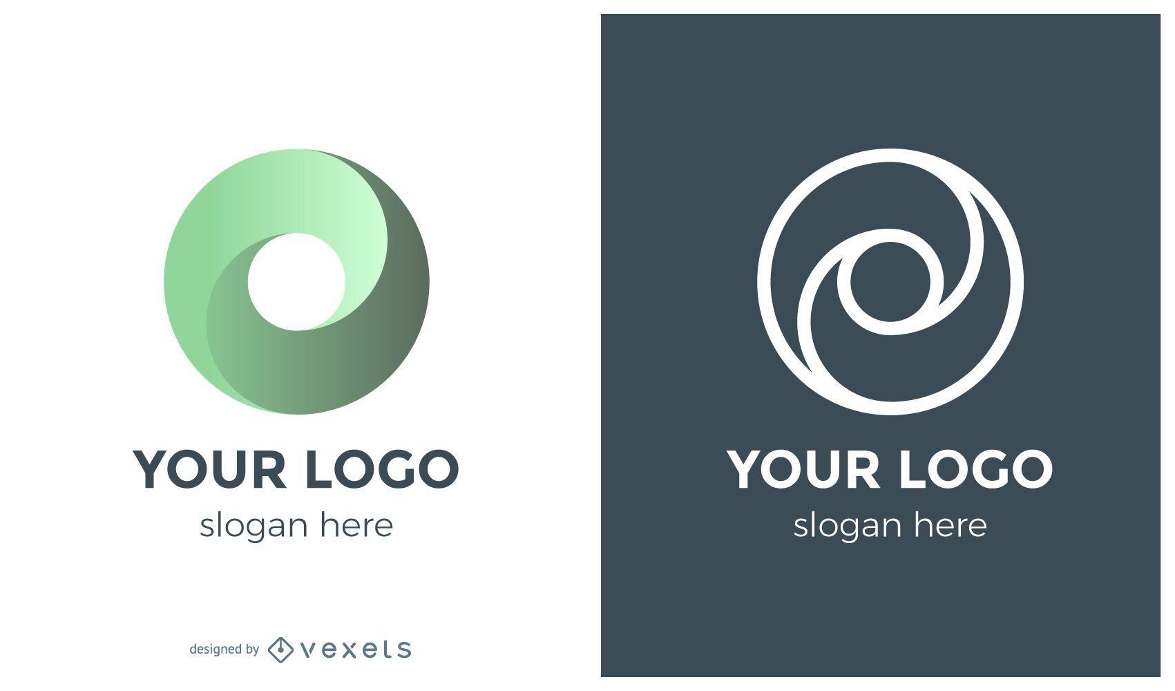 Conceito de logotipo de redemoinho de c?rculo