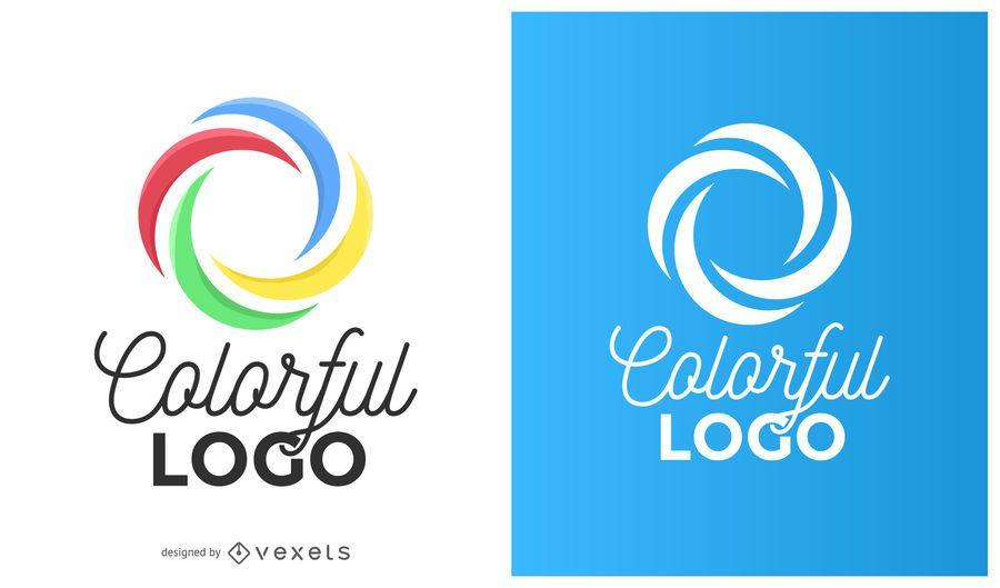 Colorful circle curves logo