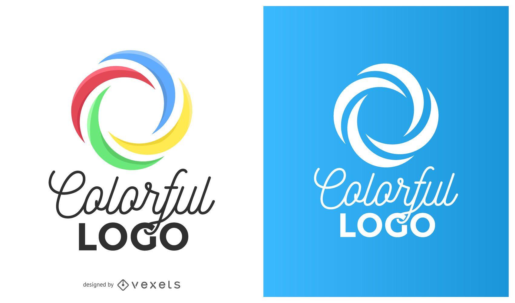 Logotipo de curvas de c?rculo colorido