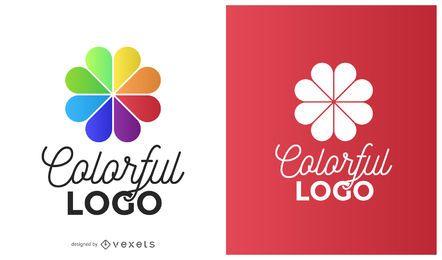 Logotipo de la flor de círculo colorido