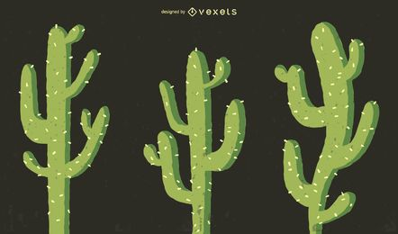Cactus illustration set