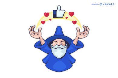 Logotipo do assistente de mídia social