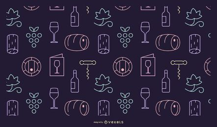 Wine elements pattern