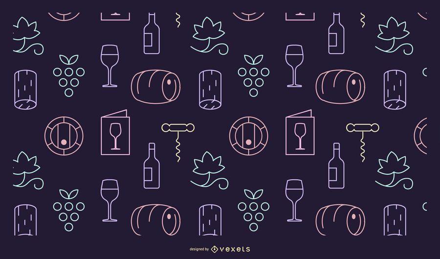 Wine elements pattern