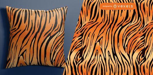 Patrón sin costuras de piel de tigre
