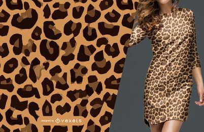 Patrón sin costuras de piel de leopardo