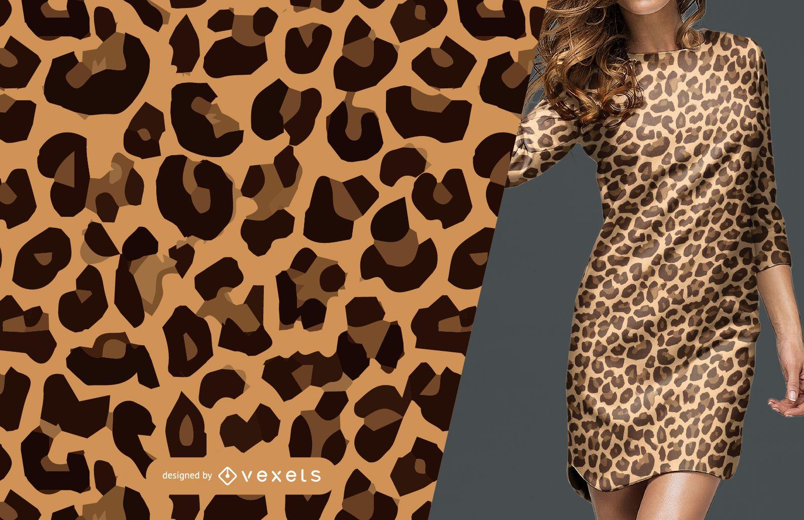 Patr?n sin costuras de piel de leopardo