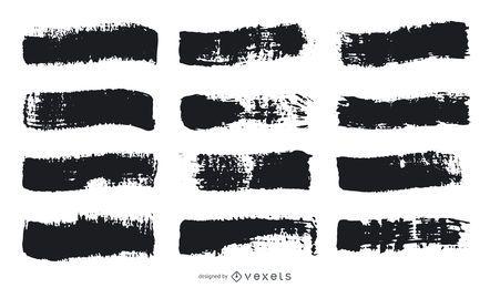 Conjunto de trazos de pincel de pintura