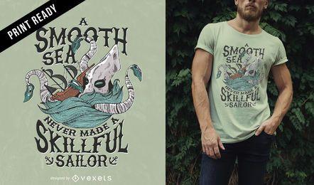 Diseño de camiseta de mar de Kraken