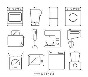 Cozinha, stoke, ícone, jogo