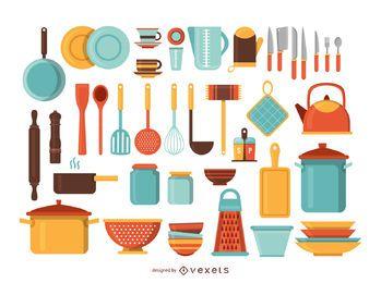 Küchengeräte-Illustrationssatz