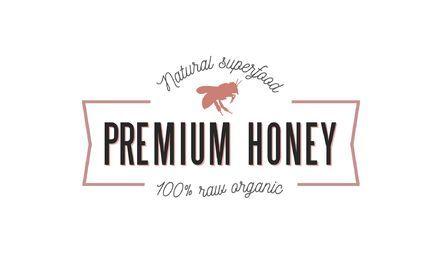 Modelo de logotipo de fita de mel Premium