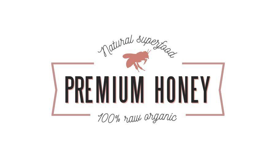 Plantilla de logotipo de cinta de miel premium