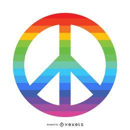 Regenbogen-Friedenssymbol