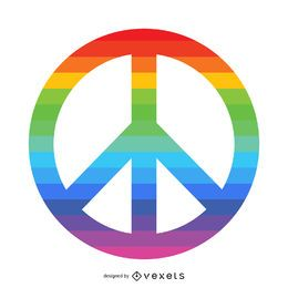 Símbolo de paz del arco iris