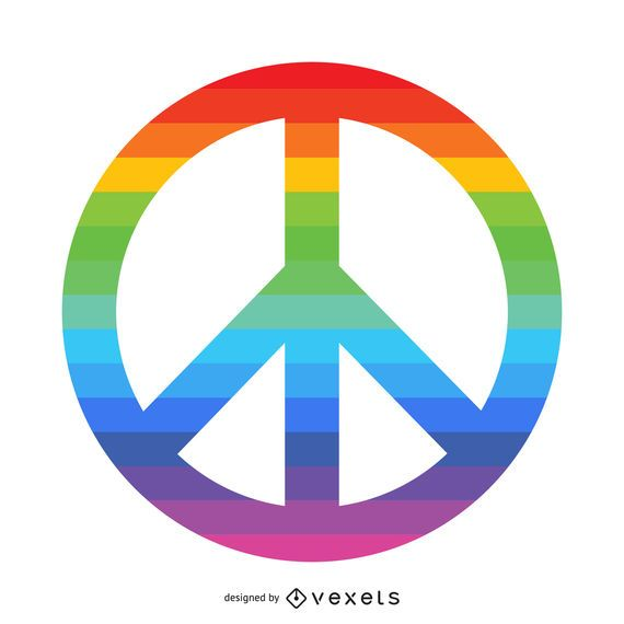 Rainbow Peace Symbol Vector Download