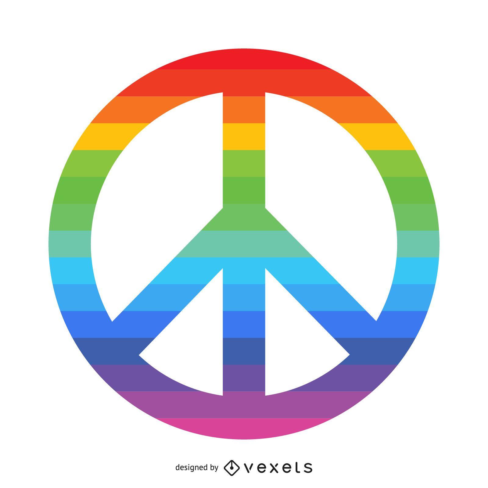 Símbolo de la paz del arco iris