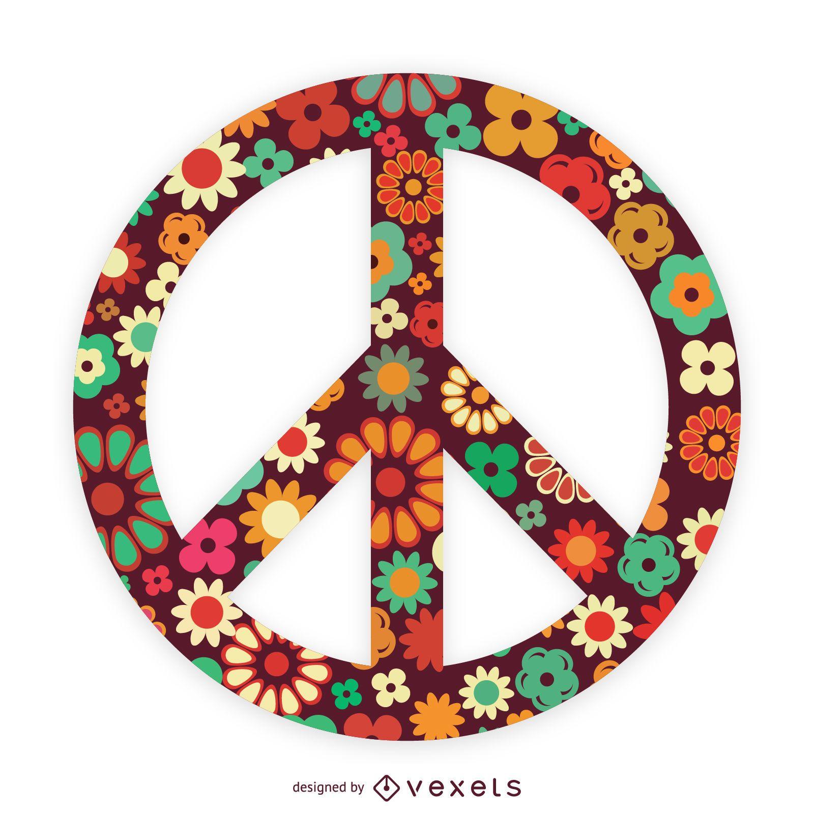Símbolo de la paz flor
