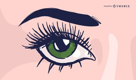 Eye lash cartoon