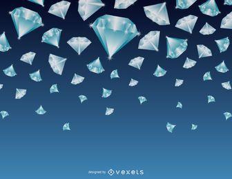Fondo de diamantes que cae