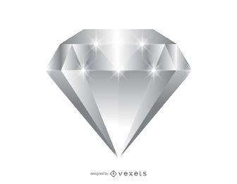 Ilustración de gema de diamante