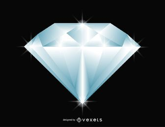 Glittering diamond illustration