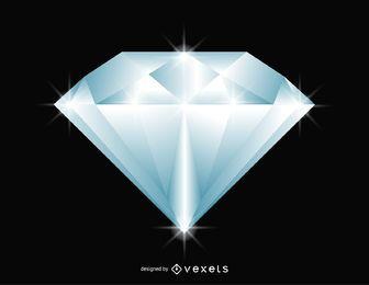Ilustración de diamante brillante