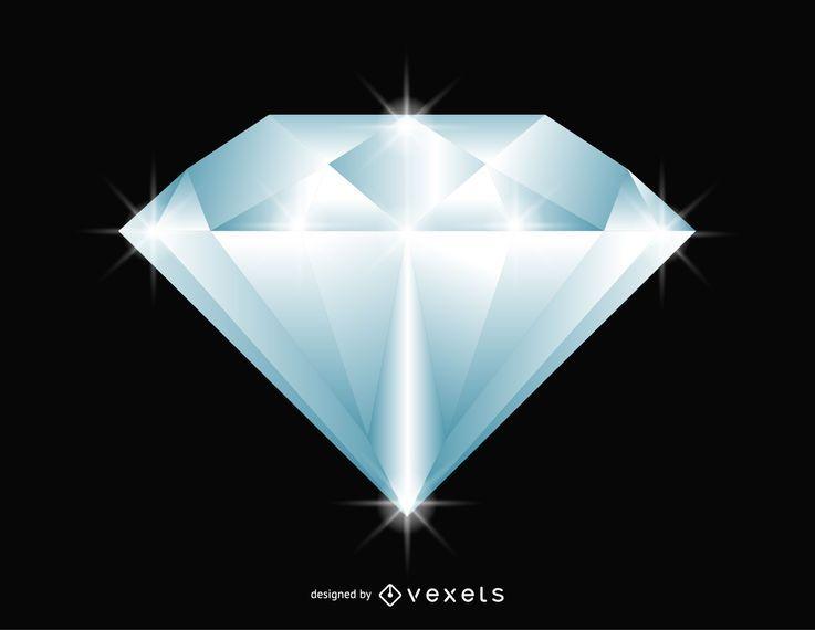 Brillante ilustración de diamante